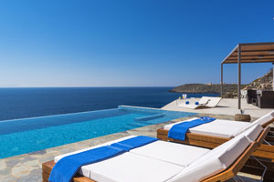 Modern Seafront Luxury Villa near Chania, Crete