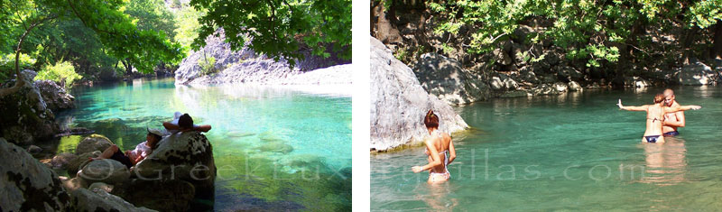 Trekking in the mountains and swimming in the rivers of Zagori