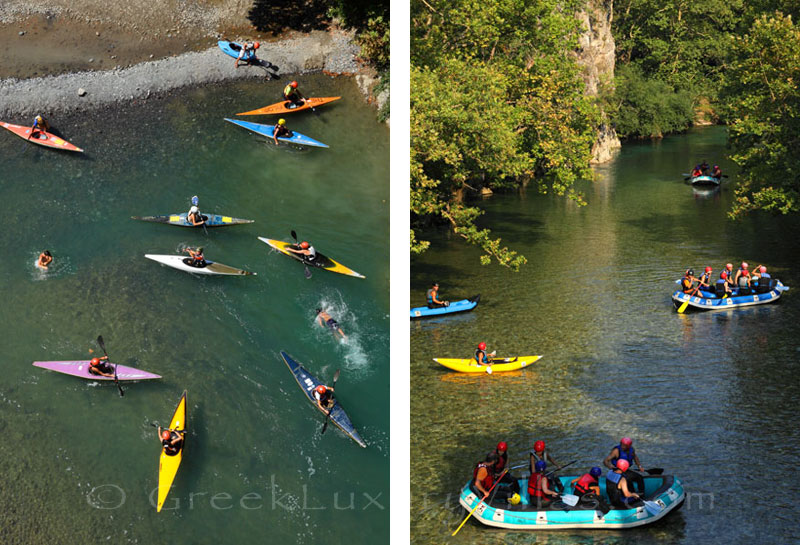 Kayak and rafting in the rivers of Zagoria