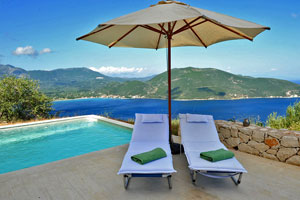 Villa Light, a  luxurious 3-bedroom villa with private pool and stunning view on Lefkas