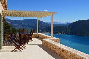 Villa Dawn, a 3-bedroom luxury villa with private pool and stunning view on Lefkas