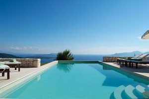 Villa Sun, a luxurious 3-bedroom villa with private pool and stunning view on Lefkas