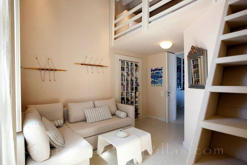 A bedroom of the exquisite traditional villa in Sifnos