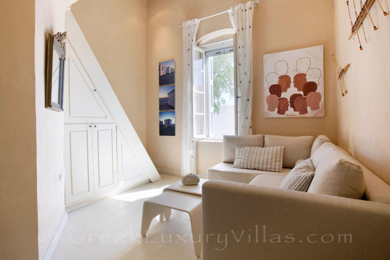 The suite of the exquisite traditional villa in Sifnos